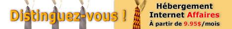 Hébergement Web Internet Affaires à partir de 9.95 $ / mois